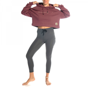 Felpa Yoga con Cappuccio Grape Pomace