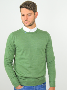 Pure Nature - Maglione uomo in lana biologica 100% naturale green gaude