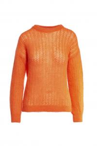 Girocollo traforato - Arancio