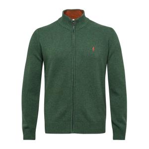 Lambswool F7 - Full zip maglia verde militare