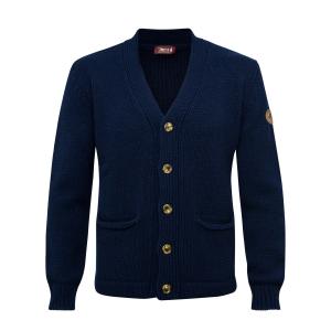 Misto lana F3 - Cardigan blu