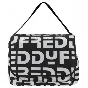 Borsa messenger bag in nylon con logo Freddy all over