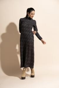 Ascelpio - Vestito lungo in maglia grigio