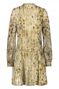 Celeno - Vestito in oro stampa animalier