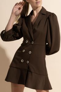 Acrea - Abito giacca aderente marrone