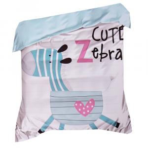 Sacco copripiumino sfuso singolo cotone per bambini Cute Zebra