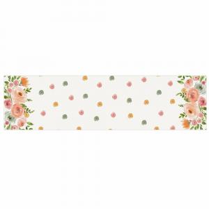 Runner da cucina 45x140 centro tavola Ester floreale rosa