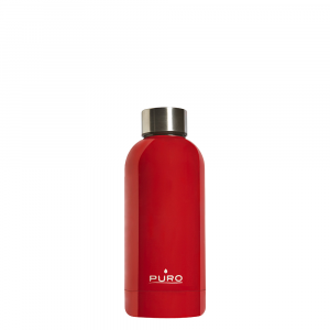 PURO Bottiglia Termica Hot&Cold Rossa da 350ml