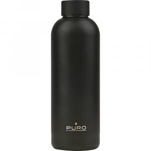 PURO Bottiglia Termica Hot&Cold Nero Metallizzato da 500ml