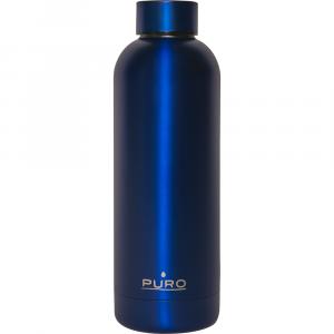 PURO Bottiglia Termica Hot&Cold Blu Metallizzato da 500ml
