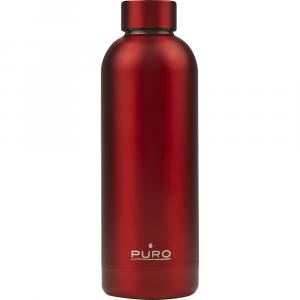 PURO Bottiglia Termica Hot&Cold Rosso Metallizzato da 500ml