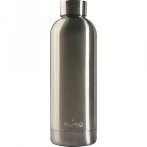 PURO Bottiglia Termica Hot&Cold Acciaio Metallizzato da 500ml