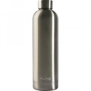 PURO Bottiglia Termica Hot&Cold Acciaio Metallizzato da 750m