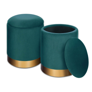 Iside pouf contenitore verde