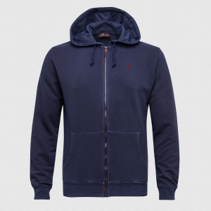 Hoodie french terry blu