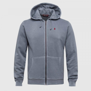 Hoodie french terry grigio scuro