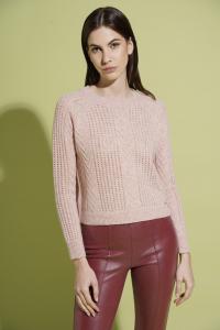 Deifobo - Pullover girocollo cashmere rosa