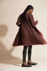Agieo - Cardigan cappotto in maglia caramel