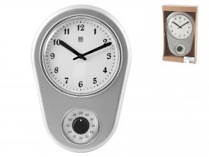 Orologio Con Timer Contaminuti, 31x21 Cm, Argento