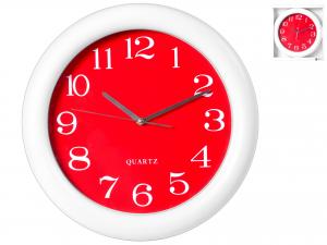 Orologio Tondo, ø 40 Cm, Rosso/bianco