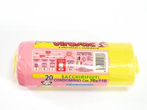 Rotolo 20sacchi 70x110 Imm/gial 132337