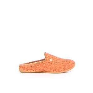 GRUNLAND Gaye ciabatta in tessuto - arancione