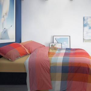 Copripiumino e federe TARTAN BRIGHTON in cotone multicolore